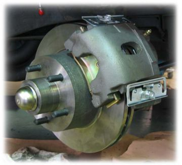 "10.95"" Mopar Front Disc Brake Kit w/Plain Calipers"