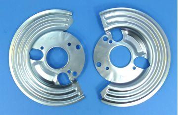 Splash shield for '73 and newer A,B,E,F,M,J and R body disc brake knuckles