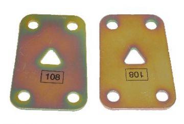 B/C Body Spring Hanger Reinforcement Plates