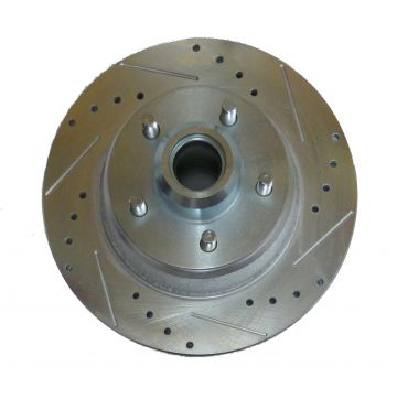 "Drilled/slotted/plated 11.75"" rotor for '73+ Mopar A/B/E/F/M/J/R Body Knuckles"